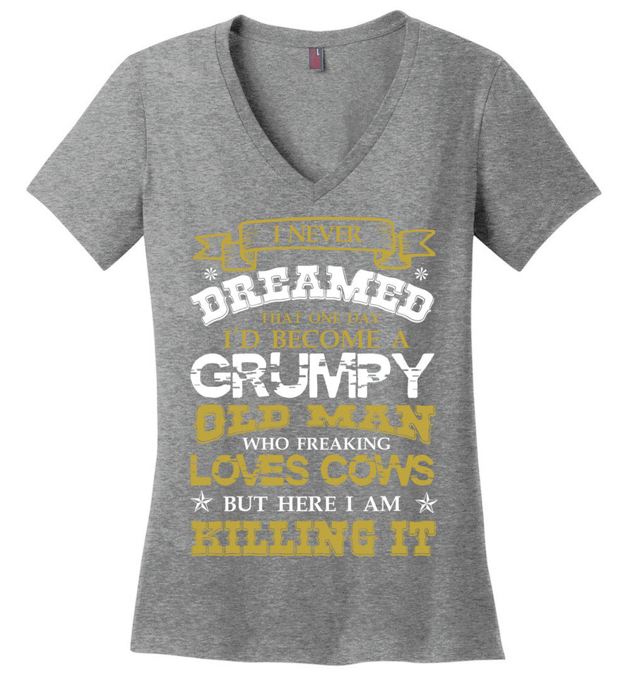 i Never Dreamed become a grumpy old man - Barnsmile.com-Barnsmile.com-shirt, tees, clothings, accessories, shoes, home decor