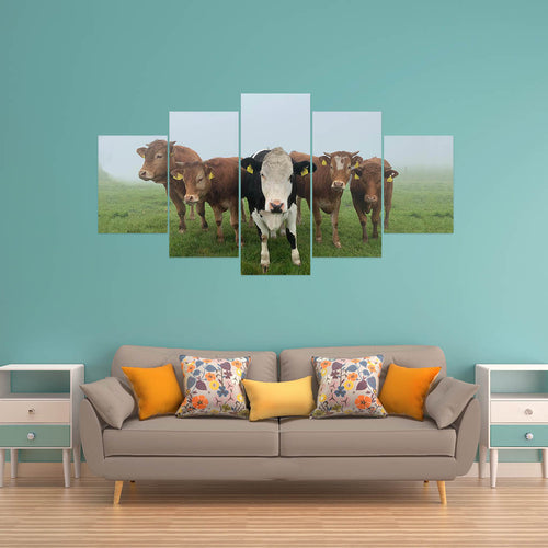 Wall Art 5pcs - Cow Lovers 09