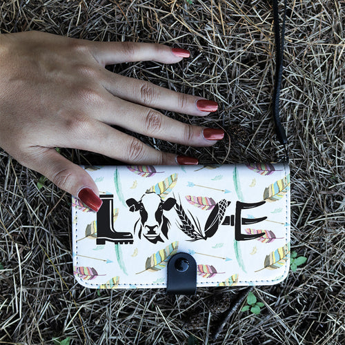 Wallet case phone - LOVE-cow
