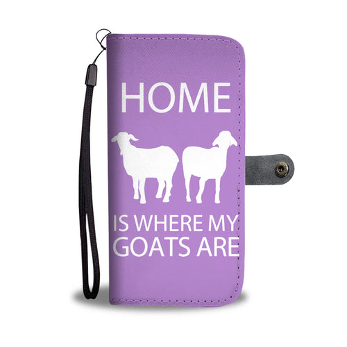 Home - goats - wallet case phone