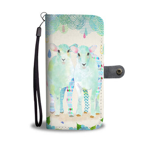 Two-goats wallet case phone