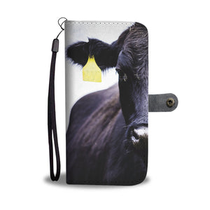 Wallet case phone - cow
