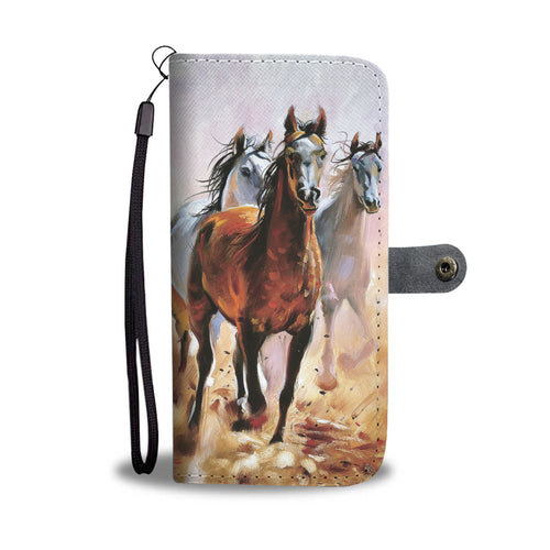 Wallet case phone - horse 50