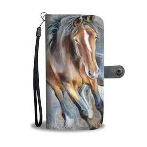 Wallet case phone - horse 35