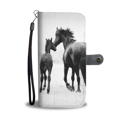 Wallet case phone - horse 43