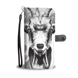 Wallet case phone - goat 01