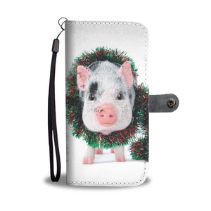Pig christmas - wallet case phone