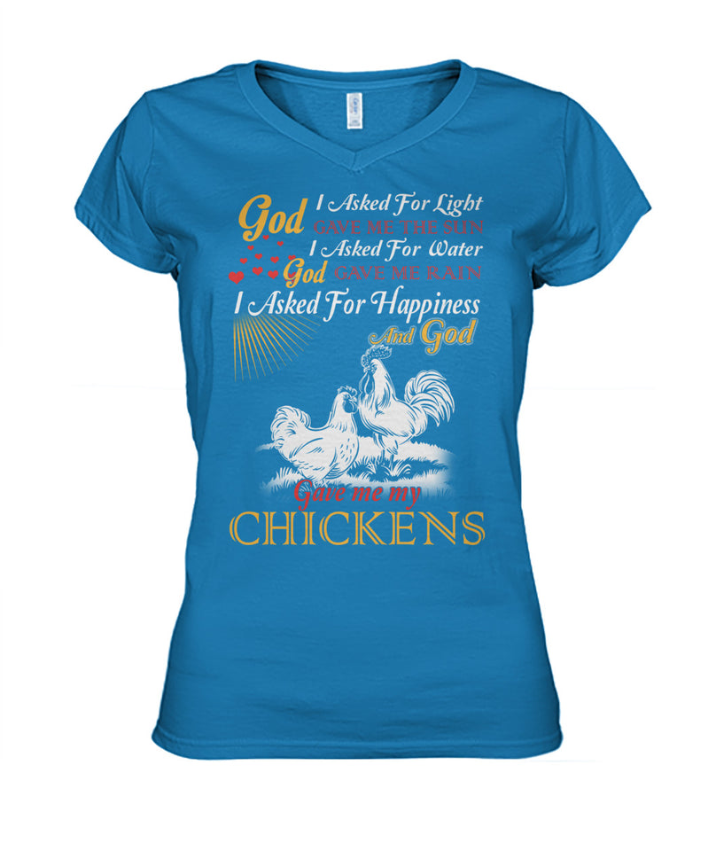 I asked for happiness, God gave me my chickens