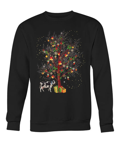 Cow winter tree - Christmas  shirt