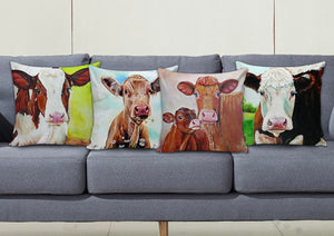 Pillow cover cow painting style sk2124