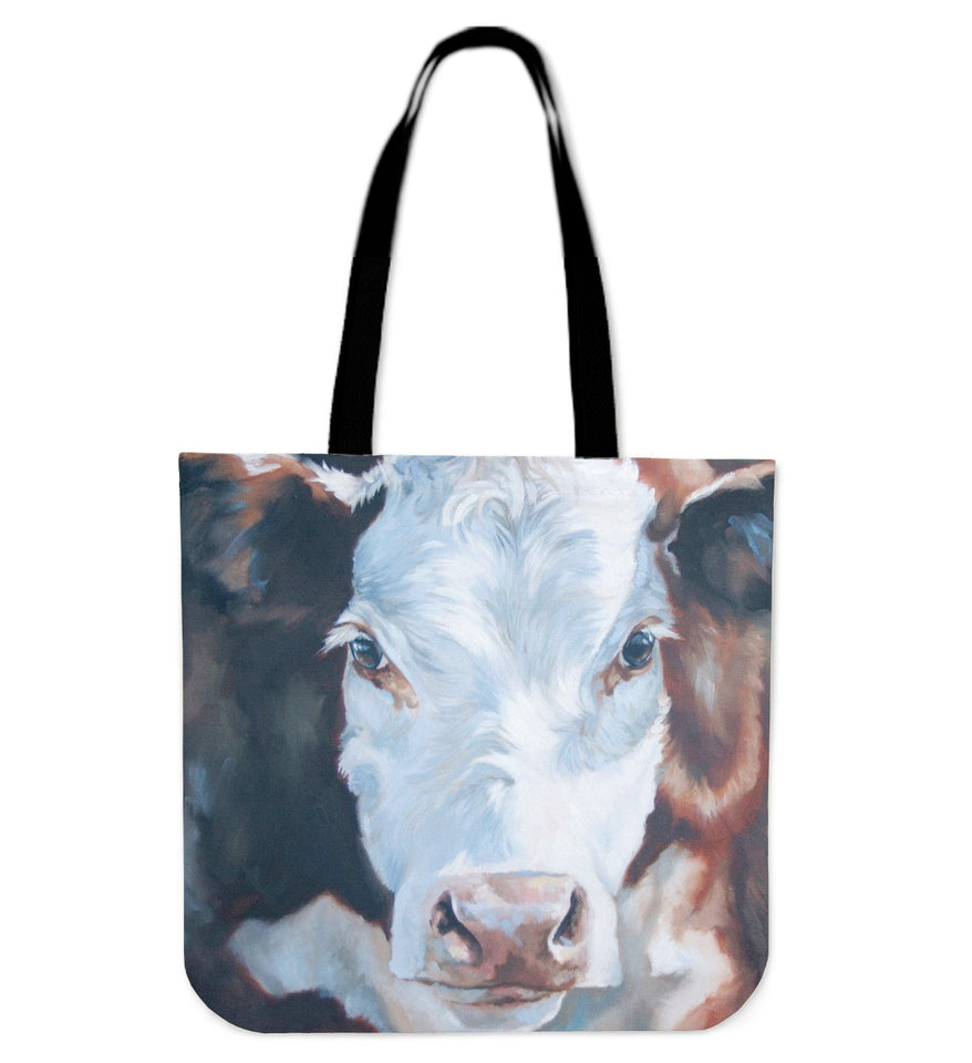 cow painting-p11 - tote bag