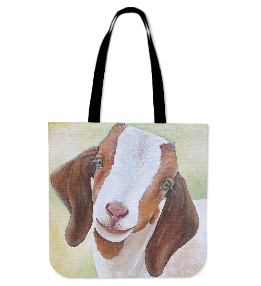 cute goat painting  - tote bag