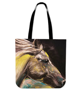 Horse painting - p7-tote bag