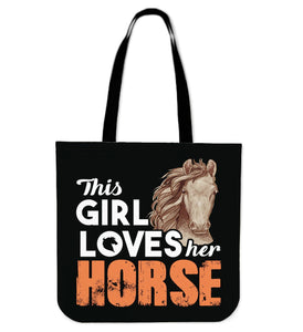 This girl loves her Horse-Tote bag