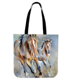 Horse painting - p18-tote bag