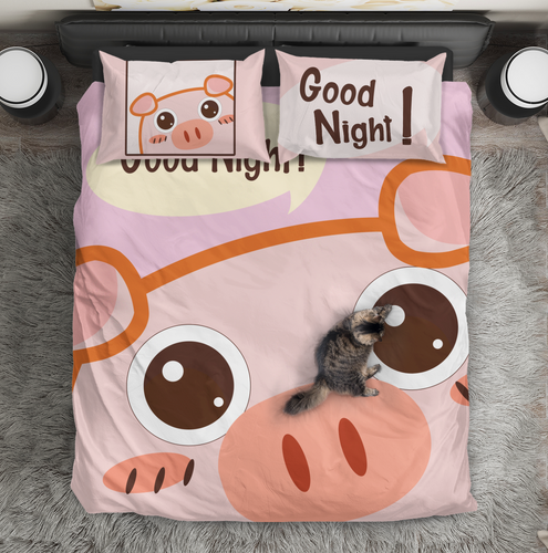 Pig cute- Bedding Set