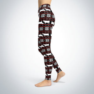 pattern love cow-leggings