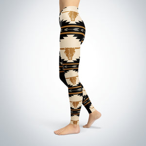cow skull leggings