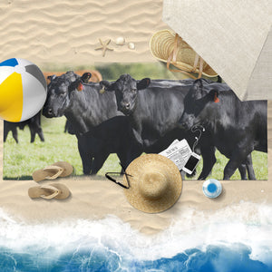 cow printed-towel-06 Beach Towel 30x60