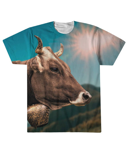 Cow face and the sky Sublimation Tee