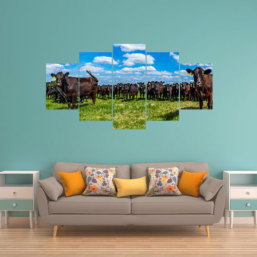 Wall Art 5pcs - Cow Lovers 02