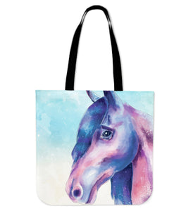 Horse painting - p15-tote bag