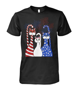 Cat - American flag & Fireworks