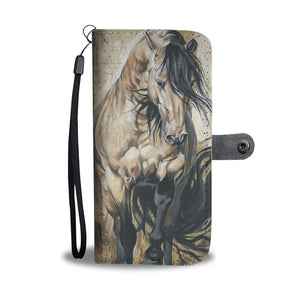 Horse 12 - wallet case phone