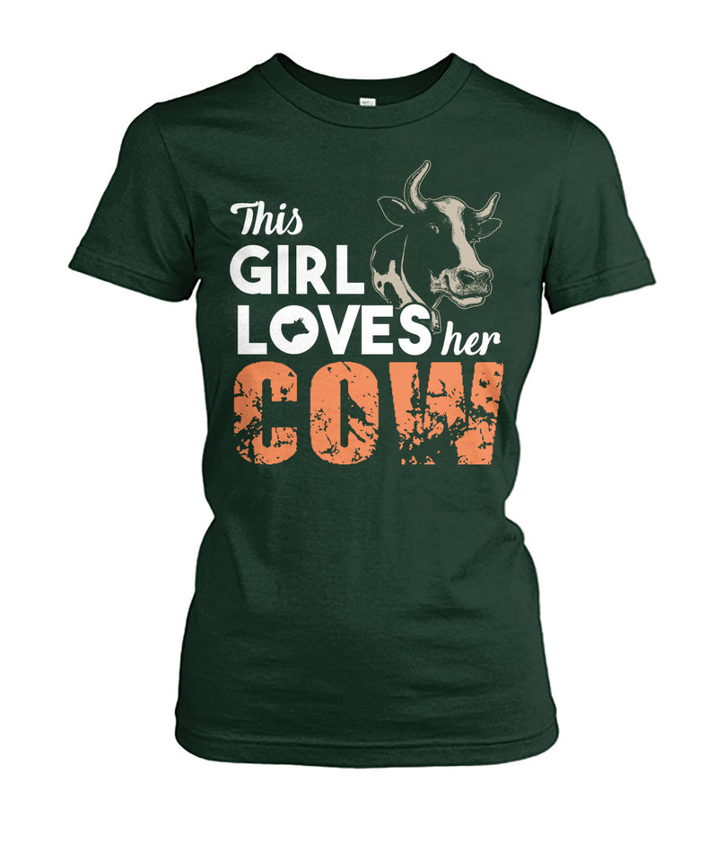 This girl loves her cows