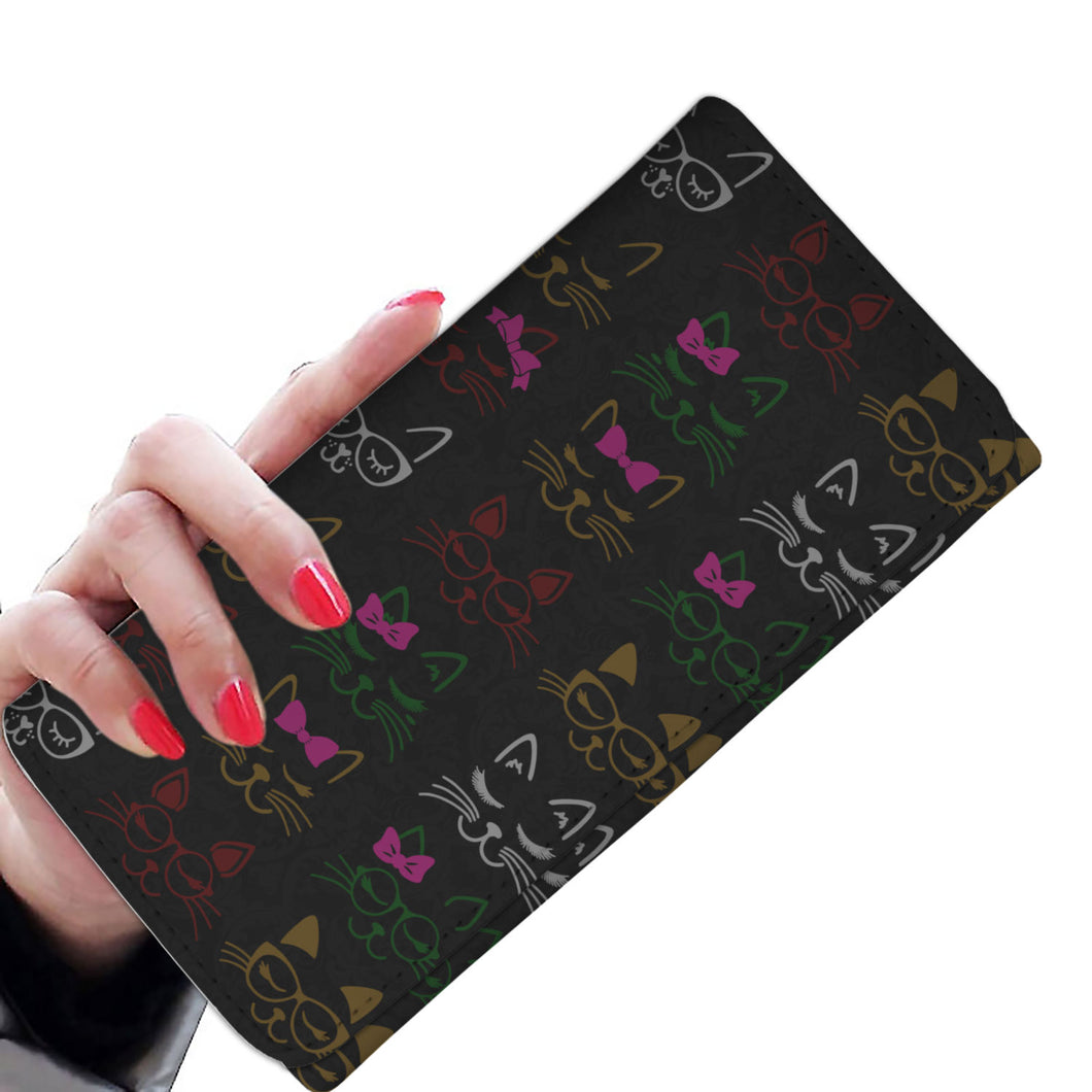 Bow Cat lover - womens wallet