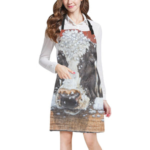cow All Over Print Apron 17