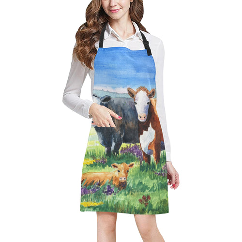 cow All Over Print Apron 26