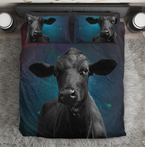 Black Cow-galaxy-Bedding Set