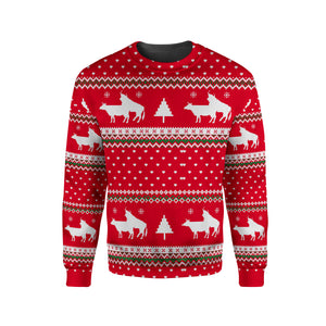 Sweatshirt funny for cow lovers - Merry Christmas
