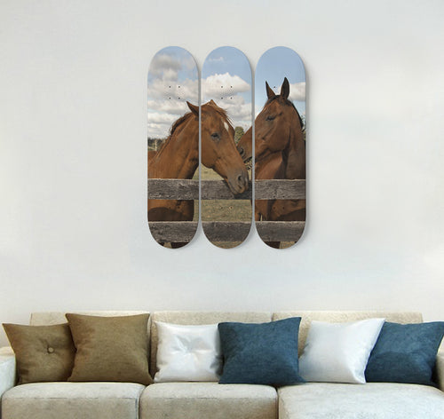 3 Skateboard Wall Art - Horse 08