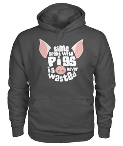 Time spent with pigs is never wasted - Barnsmile.com-Barnsmile.com-shirt, tees, clothings, accessories, shoes, home decor