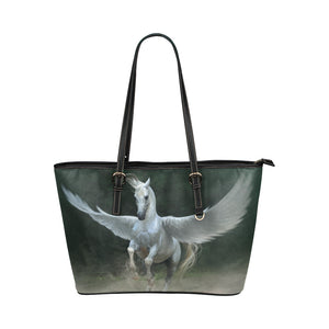 Horse 12 Leather Tote Bag/Small (Model 1651)