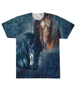Two Horses  Sublimation Tee