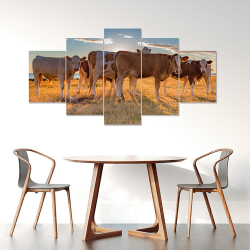 Wall Art 5pcs - Cow Lovers 04
