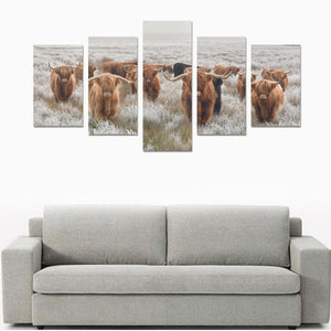 Highland squad-wall art Canvas Print Sets 5 piece (No Frame)
