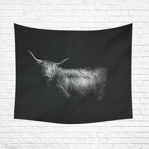 "cow 16 Cotton Linen Wall Tapestry 60""x 51"""