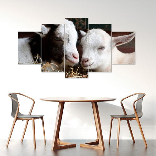 Wall Art 5pcs - Goat Lovers 07