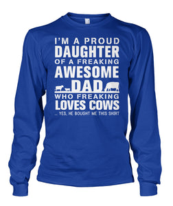 i'm a proud daughter-Dad love cows