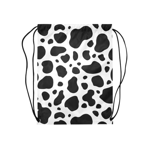 cow skin Medium Drawstring Bag Model 1604 (Twin Sides) 13.8