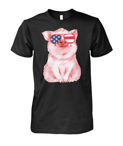 Patriot Pig shirts 4th of July American Flag