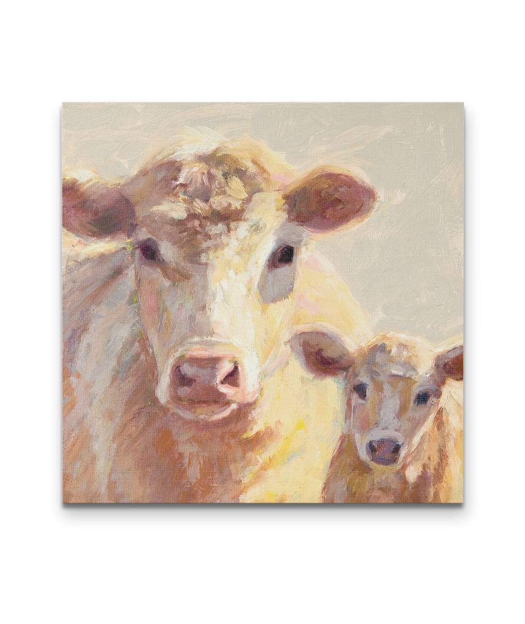Love white-p3-Cow printed--canvas square