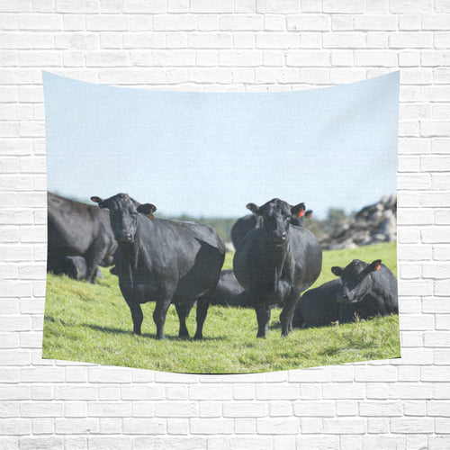 cow 20 Cotton Linen Wall Tapestry 60