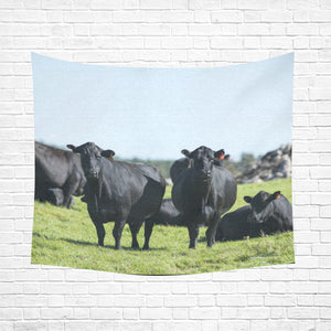 "cow 20 Cotton Linen Wall Tapestry 60""x 51"""