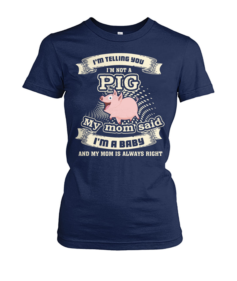 I'm telling you i'm not a pig