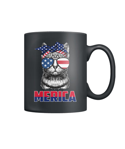 Patriot Cat mug 4th of July America